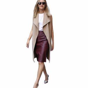 BROOKS BROTHERS Leather Burgundy Pencil Skirt NWT
